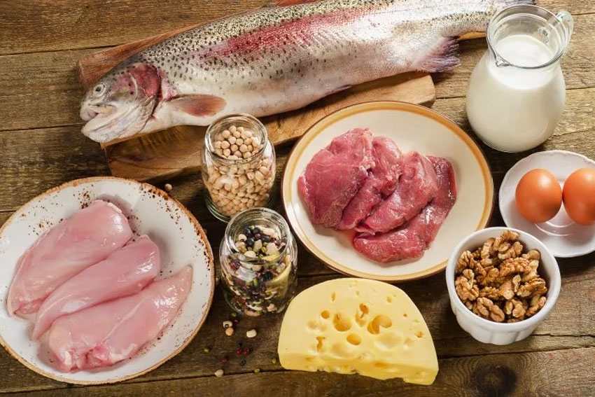 A selection for low carb foods
